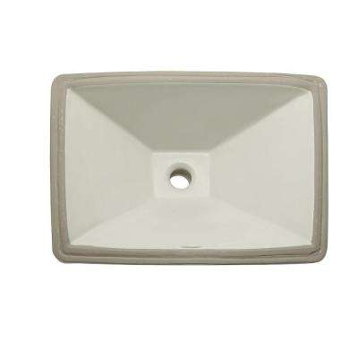 Classically Redefined Undermount Vitreous China Bathroom Sink in Biscuit