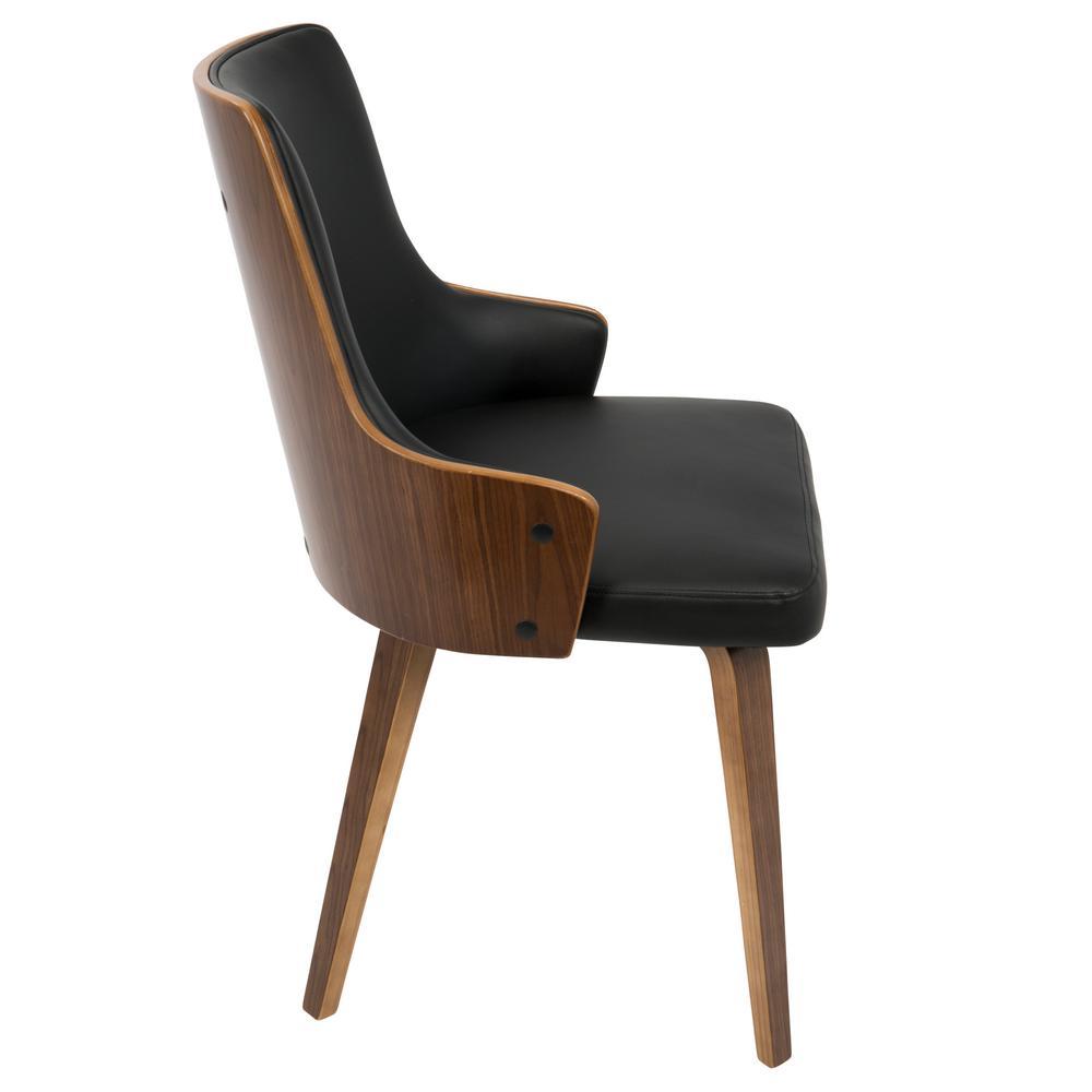 Tremendous Lumisource Stella Mid Century Walnut And Black Modern Dining Squirreltailoven Fun Painted Chair Ideas Images Squirreltailovenorg