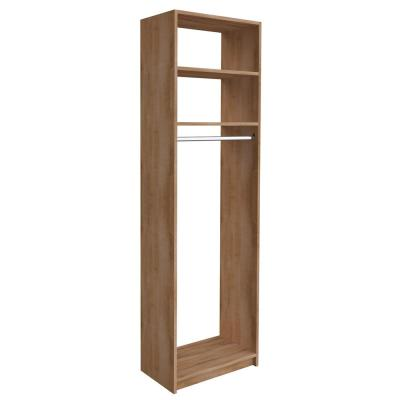 14 in. D x 25.375 in. W x 84 in. H Nutmeg Medium Hanging Tower Wood Closet System Kit