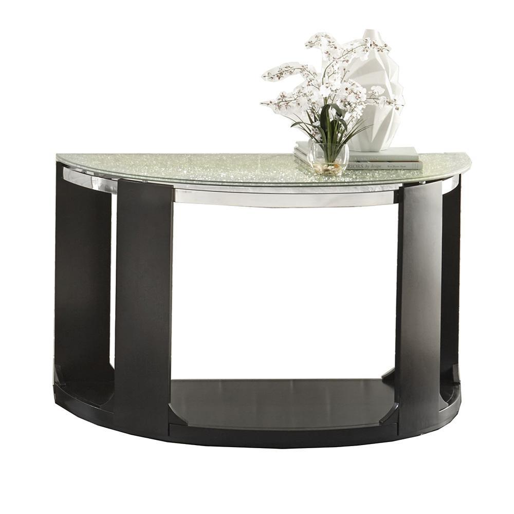 Croften Merlot Cracked Glass Sofa Table
