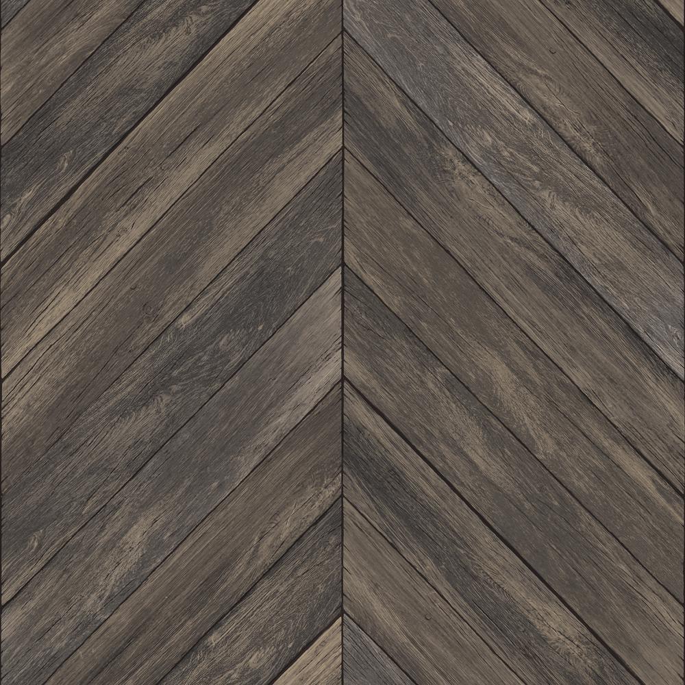 InHome 30.75 sq. ft. Wildwood Walnut Peel and Stick Wallpaper NH3064