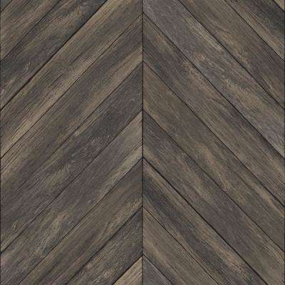 Wildwood Walnut Vinyl Strippable Wallpaper (Covers 28.2 sq. ft.)