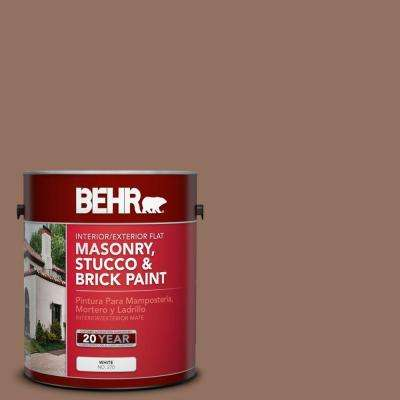 1-gal. #MS-12 Rio Bravo Flat Interior/Exterior Masonry, Stucco and Brick Paint