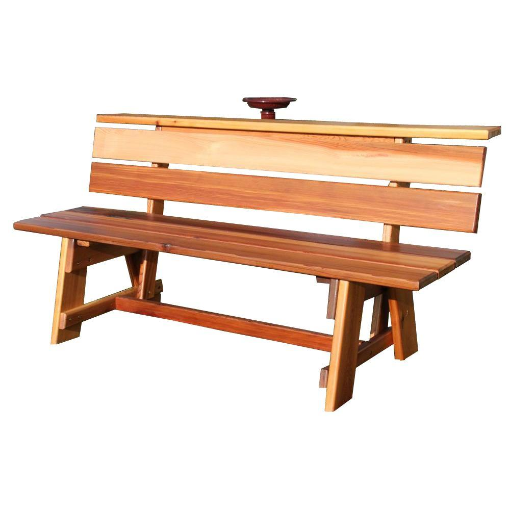 4 ft. Signature Wood Outdoor Patio Bench