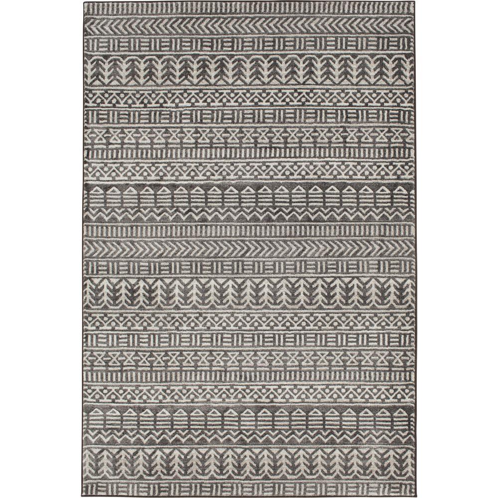 Bazaar Carib Grey/White 5 ft. x 7 ft. Area Rug