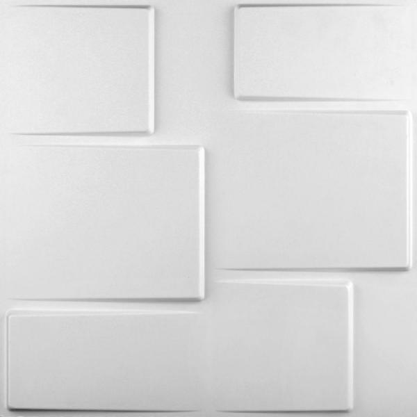 27 sq. ft. of 19.6 in. x 19.6 in. x 1 in. Off-White Plant Fibers Glue-On Wainscot Wall Panels (10-Pack)