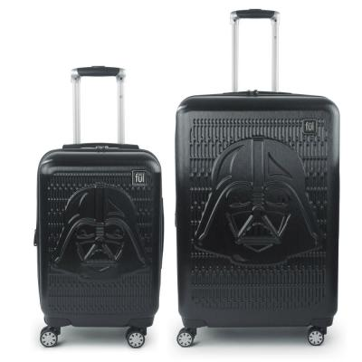 Darth Vader Embossed 29 in. and 21 in. 2-Piece Black Luggage Set