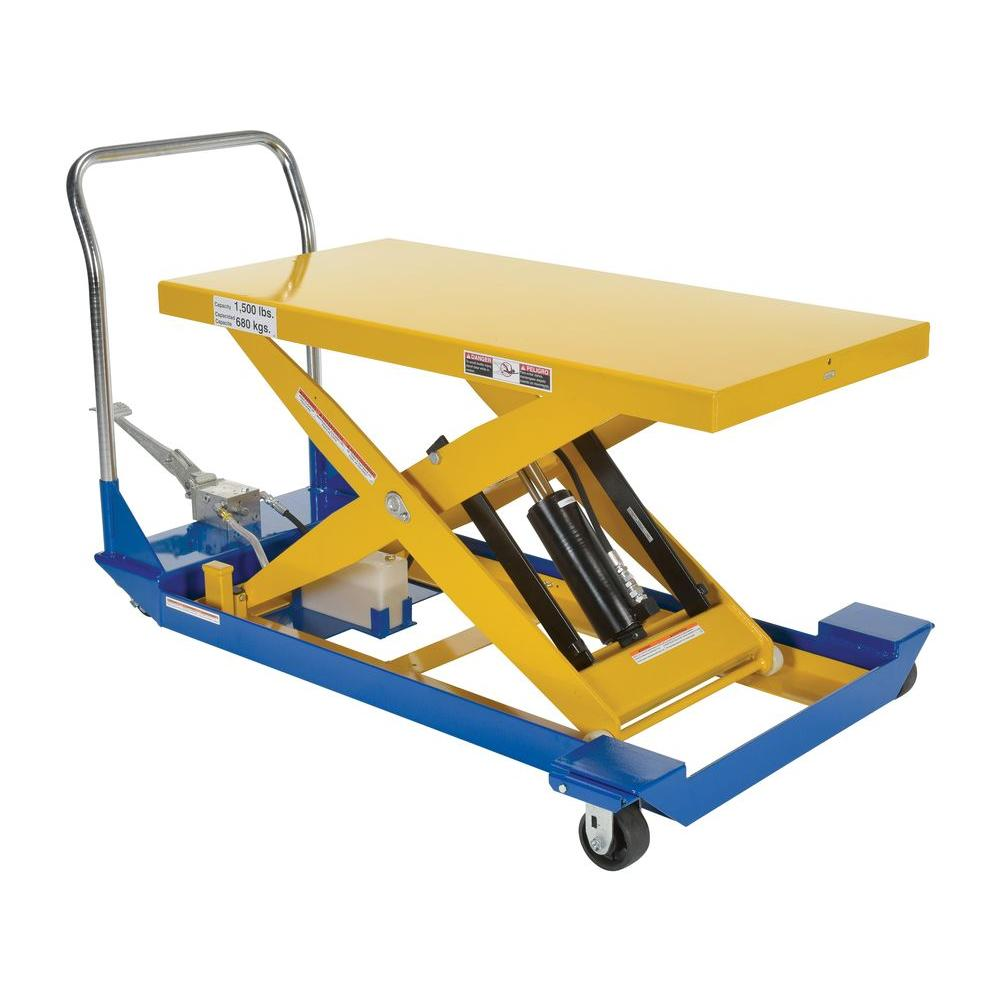 1,500 lb. 48 in. x 24 in. Foot Pump Scissor Cart