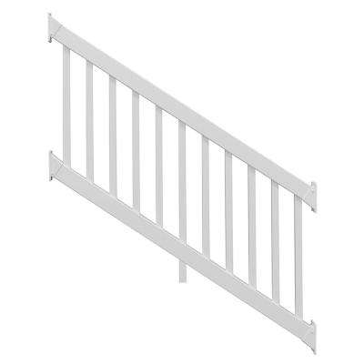 Naples 3.5 ft. H x 6 ft. W White Vinyl Stair Railing Kit