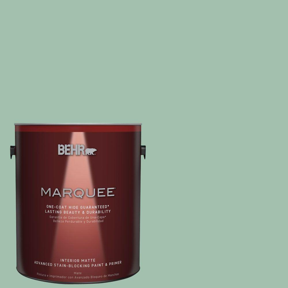 1 gal. #MQ6-13 Spring Reflection One-Coat Hide Matte Interior Paint