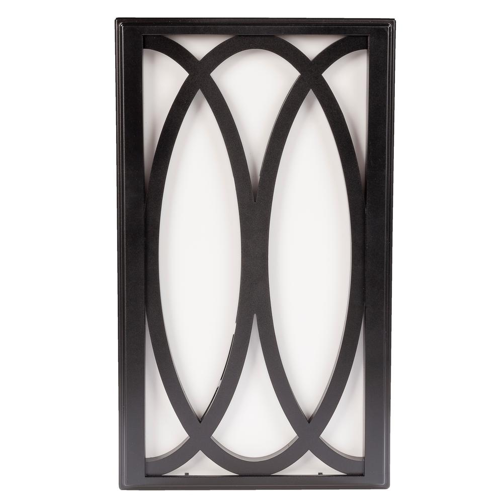 Wireless or Wired Door Bell in Black Frame with White Insert