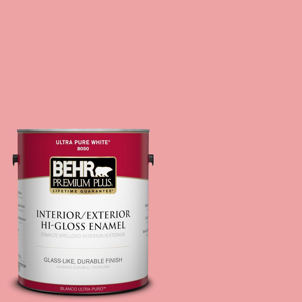 BEHR Premium Plus 1-gal. #P170-3 Infatuation Hi-Gloss Enamel Interior/Exterior Paint