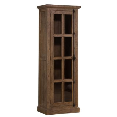 Tuscan Retreat Tall Single Door Cabinet in Aged Gray
