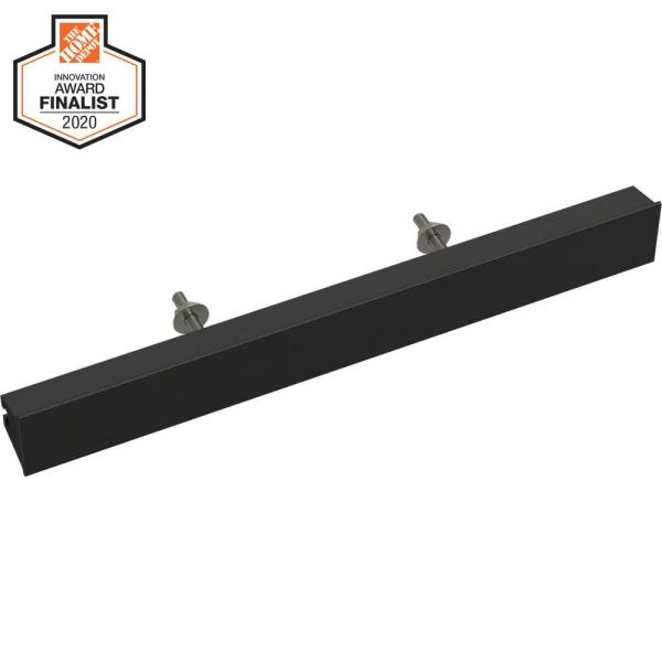 Inclination 2 in. to 8-13/16 in. (51 mm to 224 mm) Matte Black Adjustable Drawer Pull
