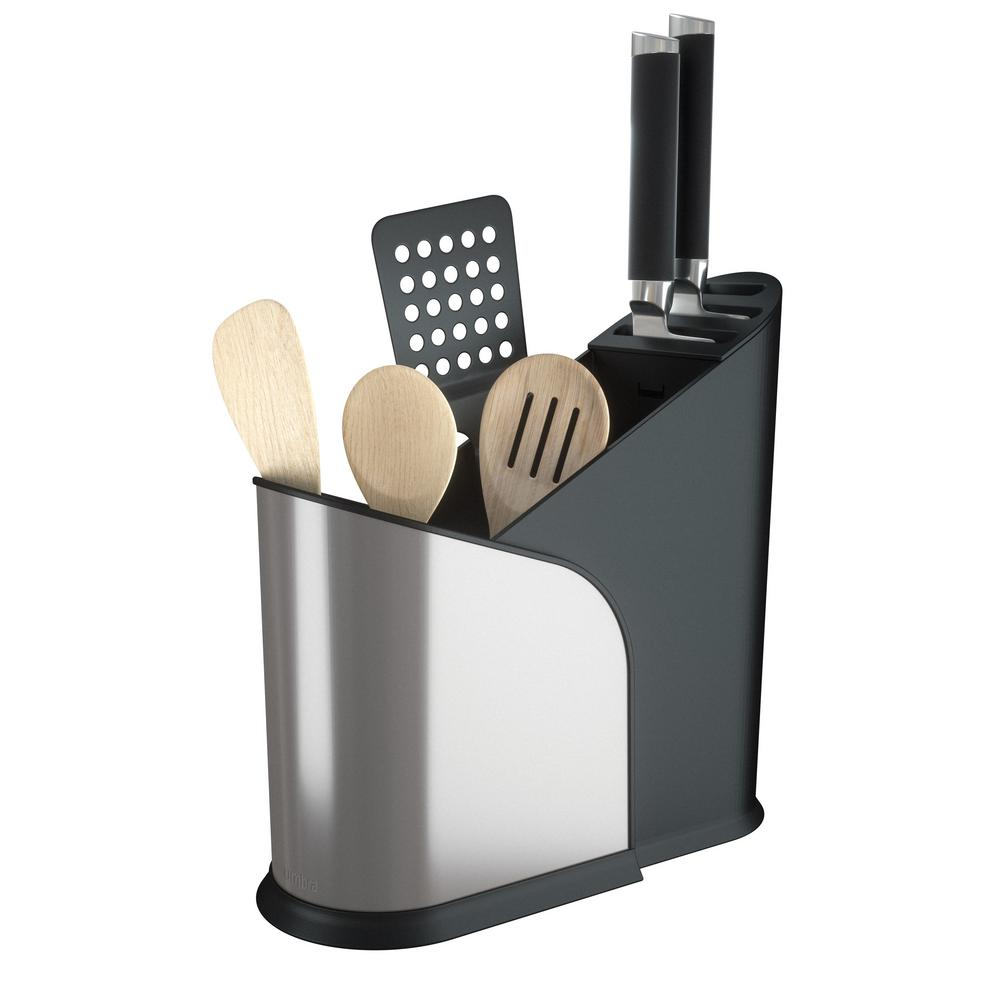 Furlo Expanding Black/Nickel Utensil Holder
