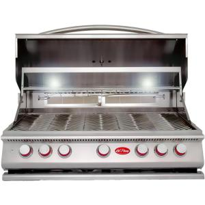 Click here to buy Cal Flame 5-Burner Built-In Stainless Steel Propane Gas Grill with Rotisserie by Cal Flame.
