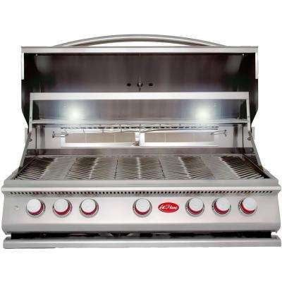 5-Burner Built-In Stainless Steel Propane Gas Grill with Rotisserie