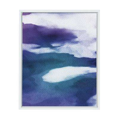"Sylvie ""Violet Abstract"" by Amy Peterson Framed Canvas Wall Art"