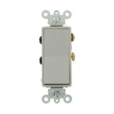 15 Amp Decora Residential Grade 4-Way Rocker Switch, Gray