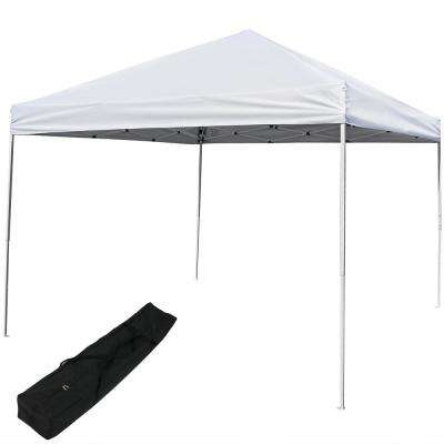 12 ft. x 12 ft. Quick-Up Straight Leg Canopy in White with Carrying Bag