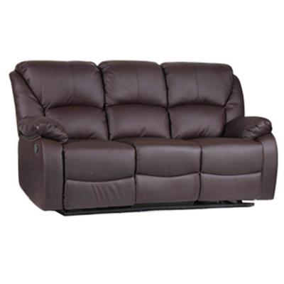 2-Piece brown Leather 6-Seater Sectional Sofa