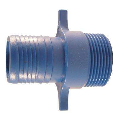 1 in. x 1 in. Blue Twister Polypropylene Insert x MPT Adapter (5-Pack)