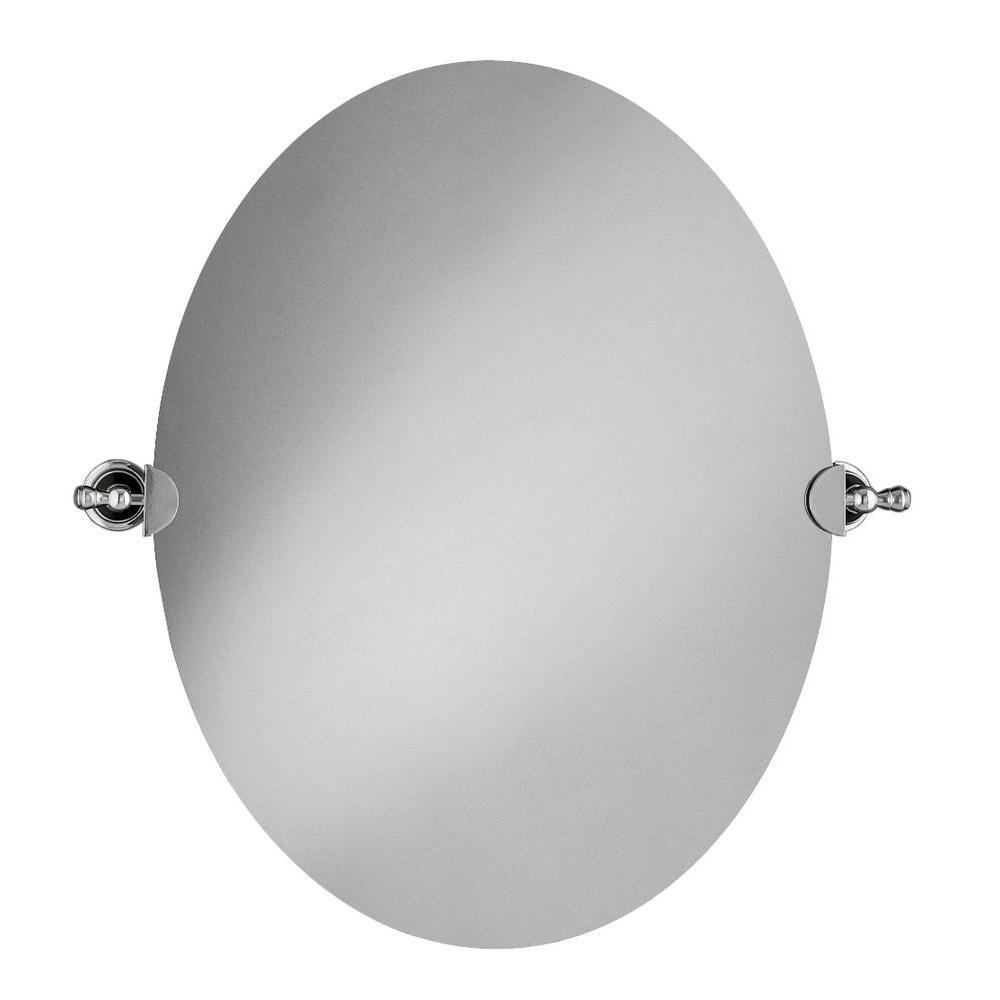 KOHLER 29 in. L x 26 in. W Revival Oval Wall Mirror in Polished ...