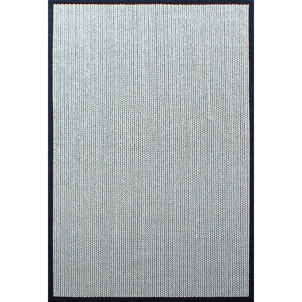Sisal Wool Herringbone Black/Cream 4 Ft. X 6 Ft. Indoor Area Rug