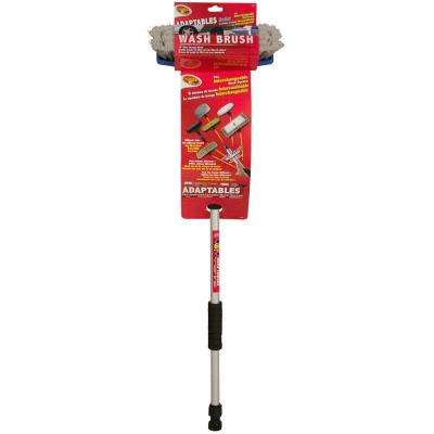 Adaptables Wash Brush with 60 in. Flow-Thru Pole Set