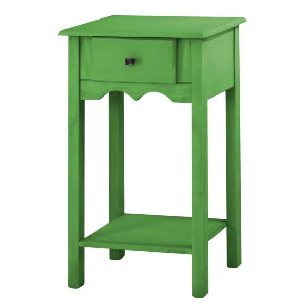 Manhattan Comfort Jay 35.43 in. Tall Green Wash End Table with