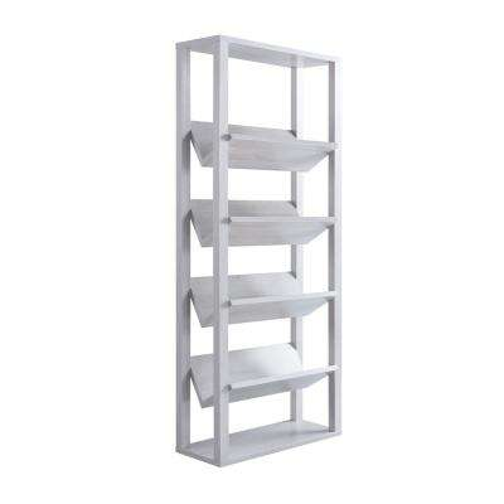 Rubus White 7-Shelf Bookcase