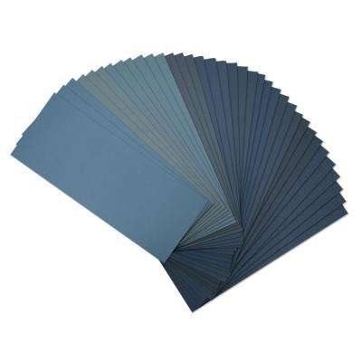 9 in. x 3.6 in. Assorted Grit Wet Dry Sandpaper (36-Pack)