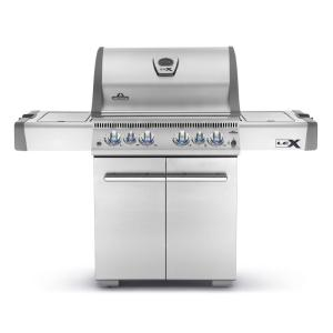 Click here to buy NAPOLEON LEX 485 with Infrared Side and Rear Burners Propane Gas Grill in Stainless Steel by NAPOLEON.
