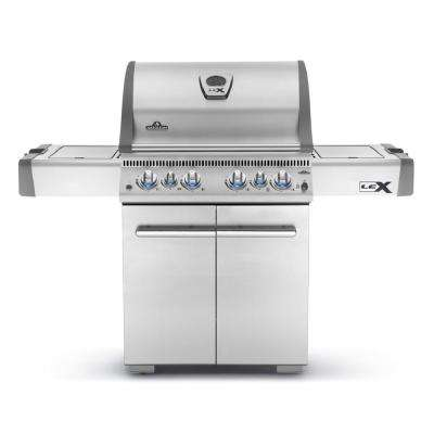 LEX 485 with Infrared Side and Rear Burners Propane Gas Grill in Stainless Steel