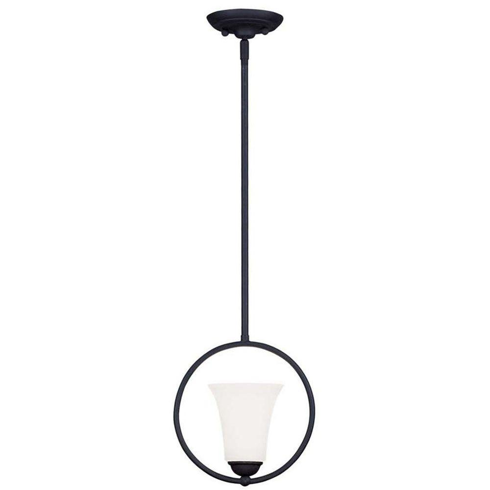 Livex Lighting Providence 1-Light Black Incandescent Ceiling Pendant