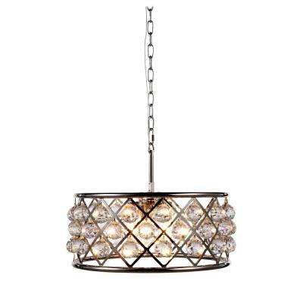 Madison 5-Light Polished Nickel Royal Cut Crystal Clear Pendant