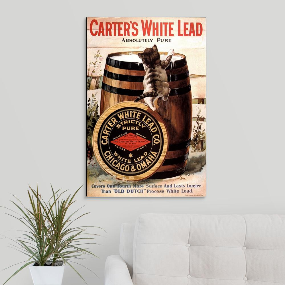 """Carter's White Lead"" by Great BIG Canvas Canvas Wall Art"