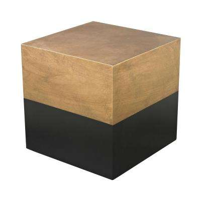 Draper Antique Gold and Black End Table