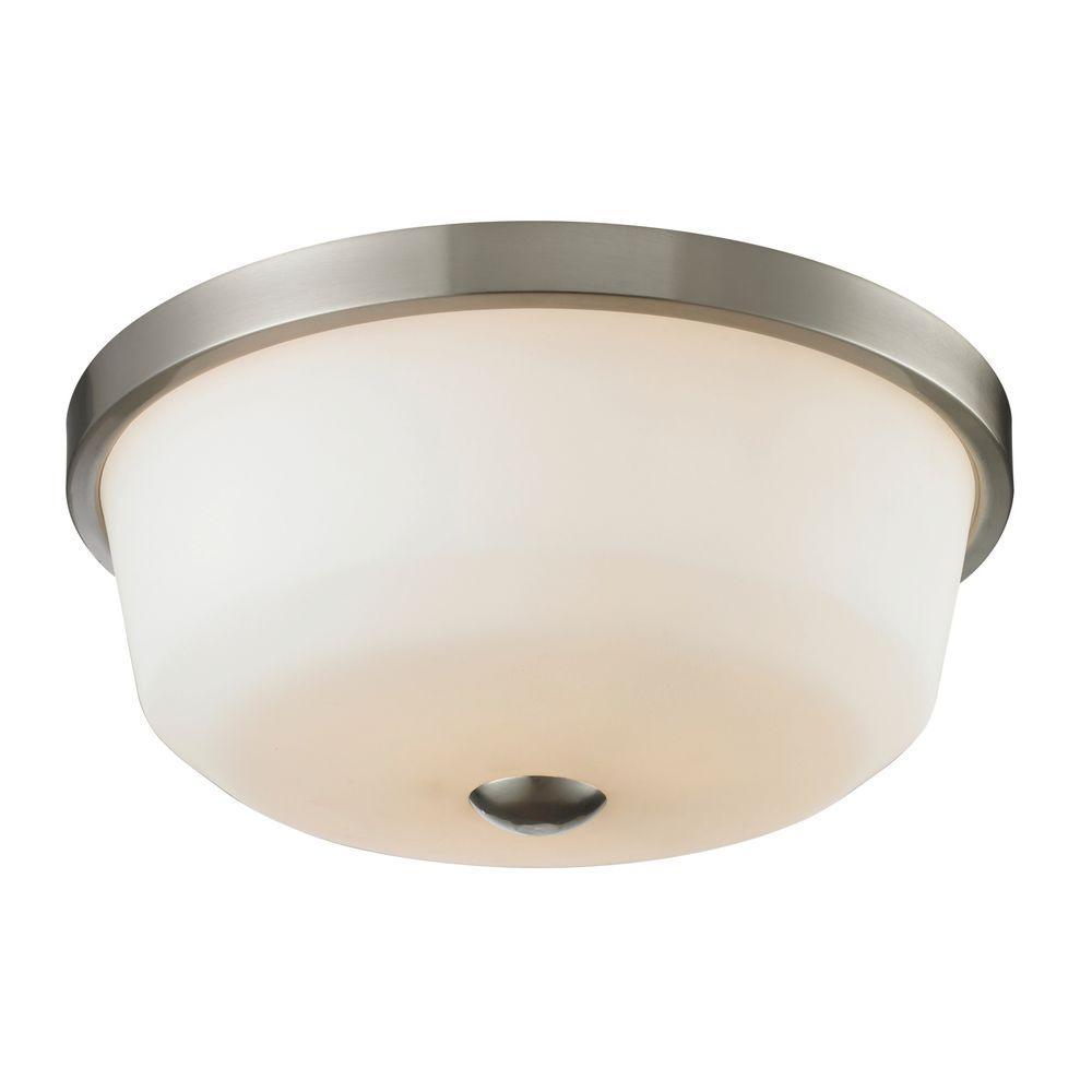 Filament Design Chic 3-Light Brushed Nickel Flushmount
