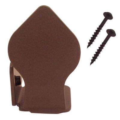 2-7/8 in. x 1-3/4 in. Spade Non-Hammered Oil Rubbed Bronze Left End Floor Stop