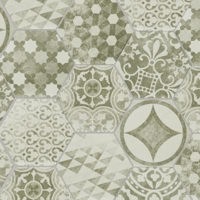 Encaustic 8 in. x 7 in. Patternia Hexagon Matte Porcelain Floor and Wall Tile (13.2 sq. ft. / case)