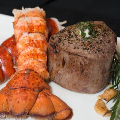 Surf and Turf - 4 (6 oz.) Filets and 4 Lobster Tails