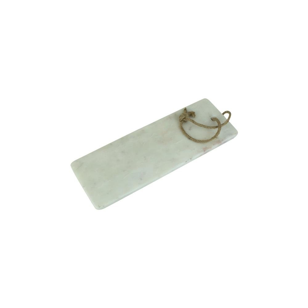 White Marble Cutting Board Long With Rope Handle