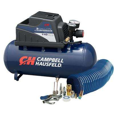 3 Gal. Horizontal Air Compressor