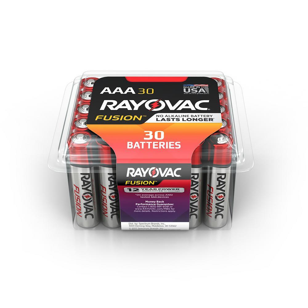 FUSION 1.5-Volt Alkaline AAA Premium Battery (30-Pack)