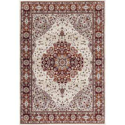 Dorsey Hall Floral Traditional Red 5 ft. 3 in. x 7 ft. 3 in. Indoor Area Rug
