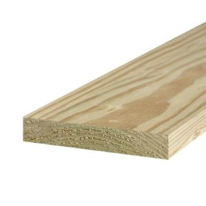 2 in. x 10 in. x 12 ft. #1 Ground Contact Pressure-Treated Lumber