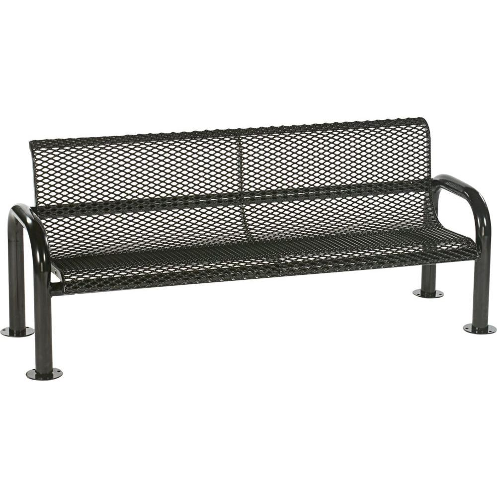 Harmony 6 ft. Black Commercial Bench