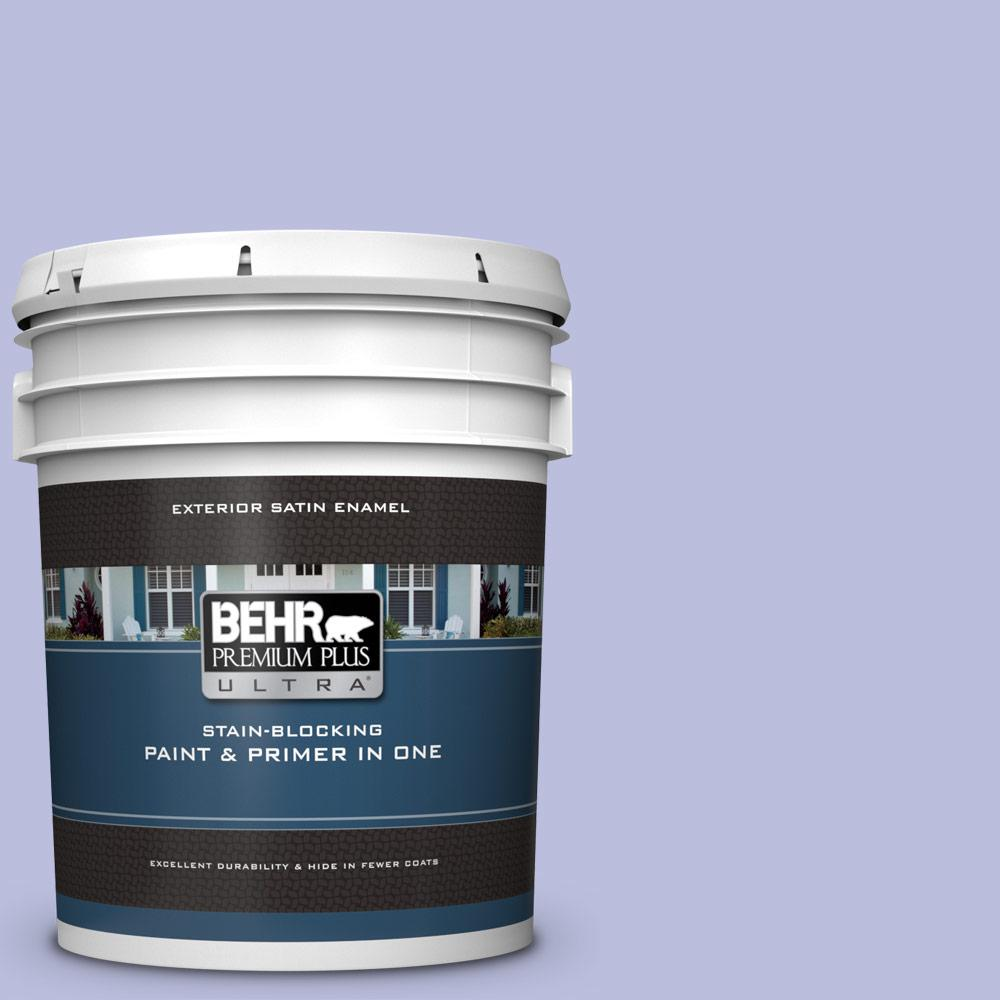 BEHR Premium Plus Ultra 5 gal  #620A-3 Rhapsody Lilac Satin Enamel Exterior  Paint and Primer in One