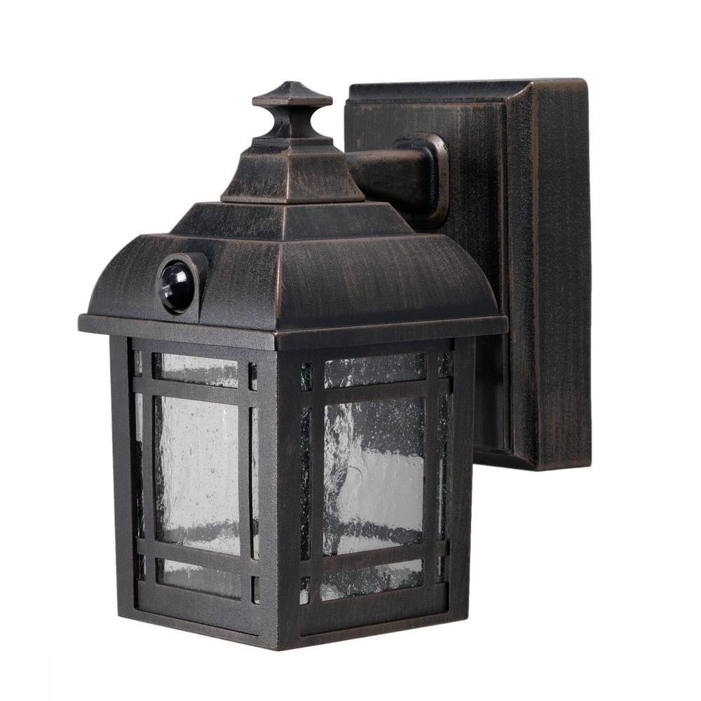 light it antique bronze craftsmen integrated led porch light 32001 107 the home depot. Black Bedroom Furniture Sets. Home Design Ideas